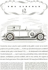 1932 Lincoln V-12 Ad (Image1)