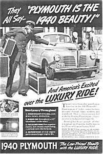 1940 Plymouth Ad Ca 1939