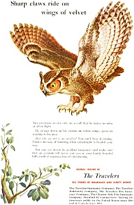 Travelers Insurance Owl  Ad ad0049 (Image1)