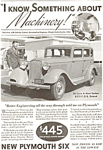 Plymouth  Deluxe 4 Door Sedan Ad ad0062 1933 (Image1)