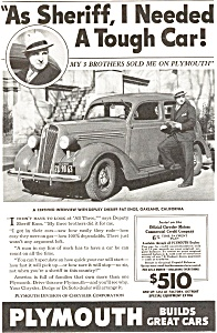 Plymouth Sheriff S Tough Car Ad Ad0069 1936