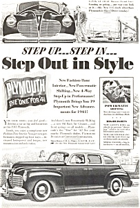 Plymouth Step Out In Style Ad Ad0076