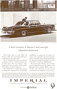 Chrysler Imperial Crown Ad ad0084 1963 (Image1)