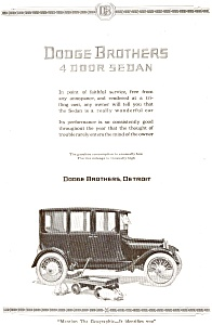 Dodge 4 Door Sedan Ad 1921 (Image1)