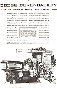 Dodge 6 and 8  Ad ca 1930 (Image1)