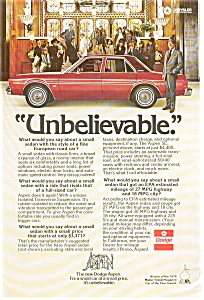 Dodge Aspen Ad (Image1)