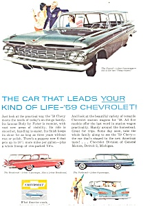 1959 Chevrolet Full Line Station Wagon Ad (Image1)