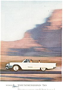 1959 Thunderbird Convertible Ad ad0173 (Image1)