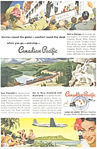 Canadian Pacific Ship, Rail, Air Ad (Image1)