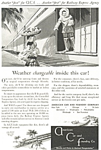 American Car and Foundry Railroad Car Ad ad0193 (Image1)
