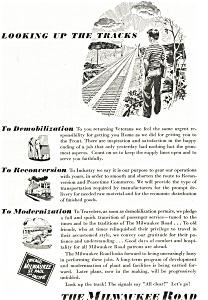 Milwaukee Road Post WWII Ad ad0194 (Image1)