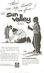 Union Pacific Railroad Sun Valley Idaho Ad ad0197 (Image1)