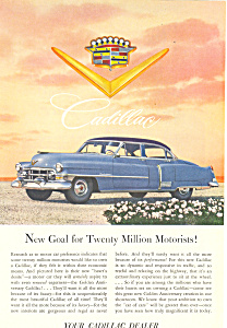1952 Cadillac 4 Door Sedan Ad ad0239 (Image1)