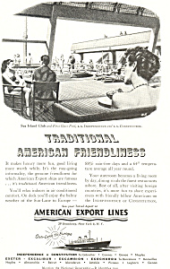 American Export Lines American Friendliness Ad ad0250 (Image1)