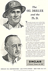 Sinclair Oil Driller and PHD  Ad (Image1)