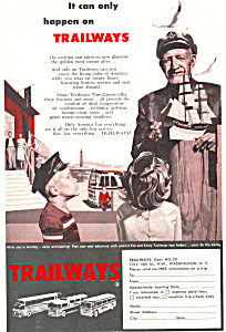 Trailways Bus Lines  Ad (Image1)