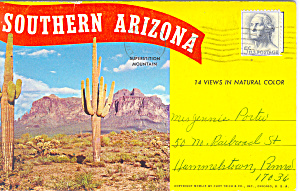 Southern Arizona Souvenir Folder Sf0263 1949