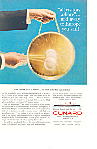 Cunard Line to Europe Ad ad0265 (Image1)
