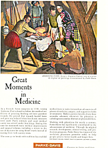 Parke Davis Great Moments in Medicine Ad ad0267 (Image1)