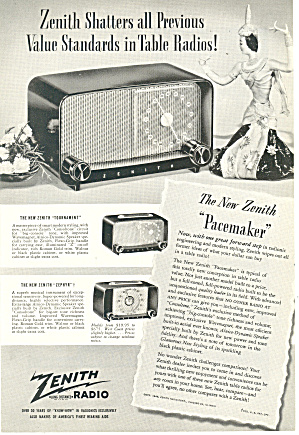 Zenith Pacemaker Radio Ad ad0279 (Image1)