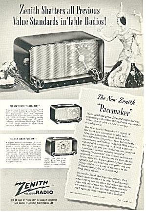 Zenith Pacemaker Radio Ad (Image1)