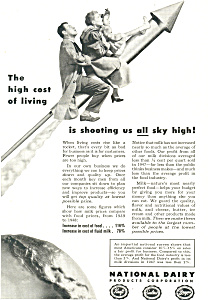 National Dairy Products High Cost Of Living Ad