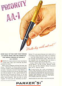 Parker 51 Pen  Ad 1945 (Image1)