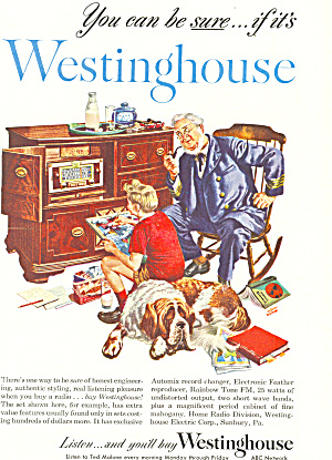 Westinghouse Old Time Radio  Ad ad0286 (Image1)