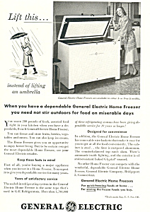 General Electric Home Freezer  Ad (Image1)