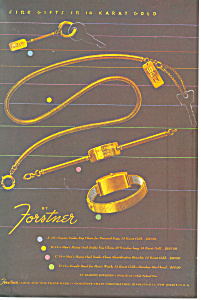Forstner 14 Karat Gold Jewlery Ad (Image1)