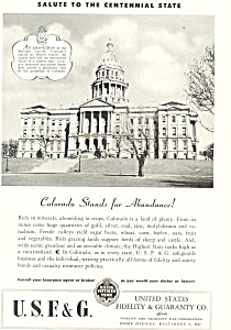 US Fidelity & Guaranty Co., Colorado Ad (Image1)