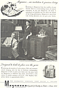 Magnavox Radio Phonograph  Ad Ronald Coleman (Image1)