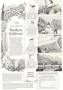 Southern California Tourism Ad ad0340 (Image1)