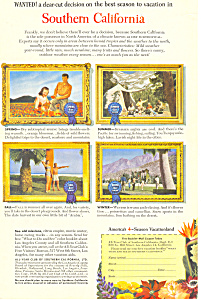 Southern California Tourism Ad ad0341 (Image1)