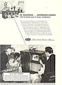 Dumont Television Experience Ad ad0347 (Image1)