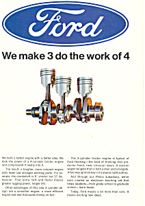 Ford Tractor Engine Ad