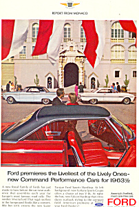 Ford Performance Cars for 1963 1 2 Ad ad0392 (Image1)