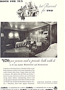 United States Line New Steamers   Ad ad0404 (Image1)