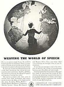 A T & T World of Speech  Ad (Image1)