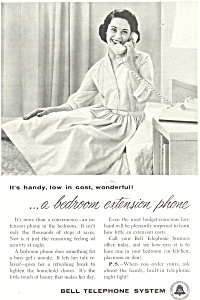 Bell Telephone Extension Phone Ad Ad0432