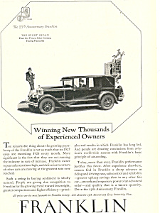 Franklin Sport Sedan Sedan Ad (Image1)