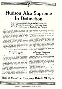 Hudson Motor Car Company 1920 Ad ad0452 (Image1)