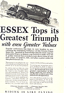 Essex Super-Six 1927 Ad (Image1)