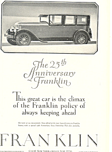 Franklin 25th Anniversary 1927 Ad (Image1)