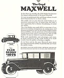 Maxwell  Club Sedan 1924 Ad ad0470 (Image1)