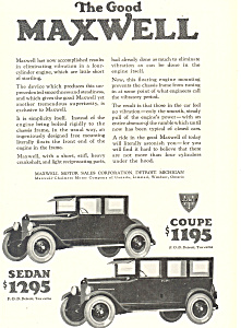 Maxwell  Coupe and  Sedan 1924 Ad ad0473 (Image1)