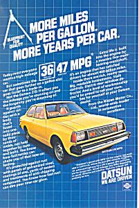 Datsun 210 MPG  Ad ad0534 (Image1)