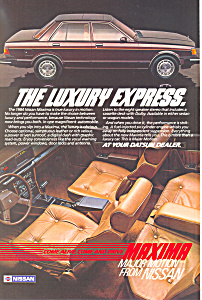 Nissan Maxima 1984   Ad (Image1)