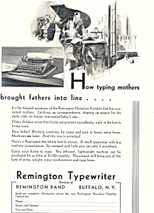 Remington-Typewriter  Ad (Image1)
