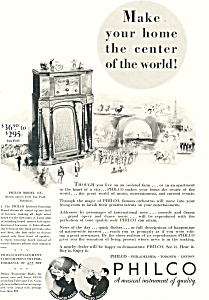 Old Time Philco Radio   Ad (Image1)
